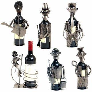 Weinhalter Figur, aus Metall, diverse Berufe