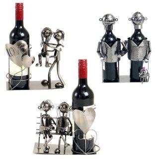 Weinhalter Figur, aus Metall, diverse Pärchen