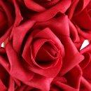 Rosenherz, diverse Farben und Größen, Schaumstoff