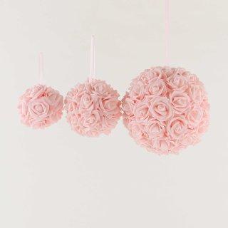 Rosenball rosa in drei verschiedenen Größen