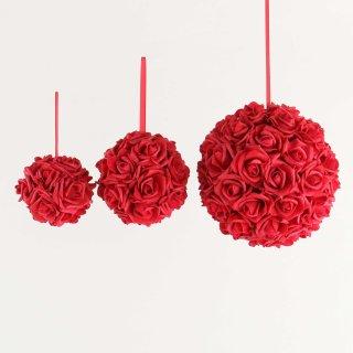 Rosenball rot verschiedene Größen