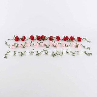 Rosengirlande, Rosa oder Weiß, Schaumstoff, L: 420 cm