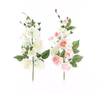 Rosenzweig, Rosa, Weiß, Schaumstoff, L: 45 cm