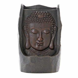 Buddha Brunnen mit LED Beleuchtung braun