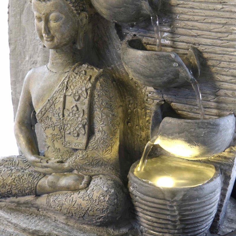 Buddha Brunnen Mit LED Beleuchtung Grau 3995 EUR