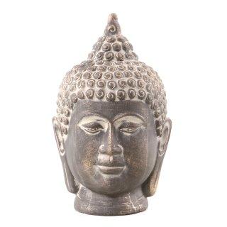 Buddha-Kopf aus Polystone braun