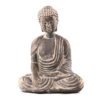 Buddha-Figur aus Polystone braun/gold