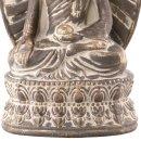 Buddha-Figur auf Thron sitzend braun/gold