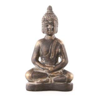 Buddha Figur aus Polystone braun/gold