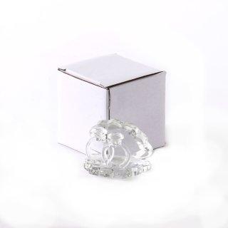 Glasfigur Muschel mit Ringen klein