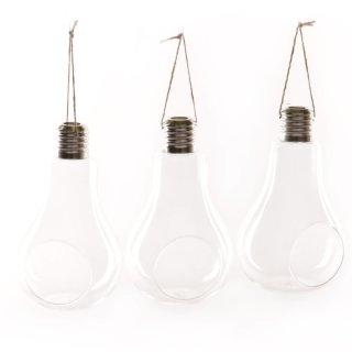Glas-Glühbirne 3er Set