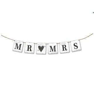 Mr&Mrs Hochzeitsbanner aus Pappe