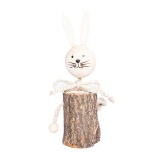 Süßes Baumstamm-Häschen