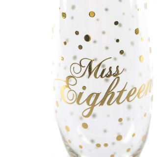 Sektglas Miss Eighteen