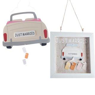 """""""Just married"""" 2er Set zum Hängen"""