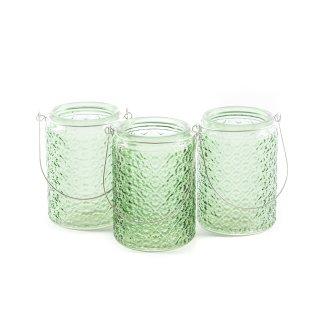 Gläser mit Henkel im 3er Set grün