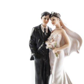 Torten-Hochzeits-Figur