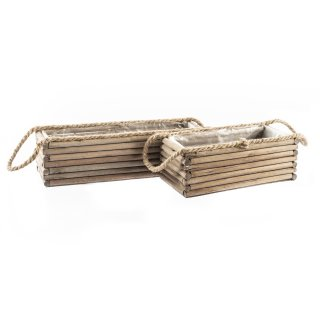 Holz-Kiste zum Hängen