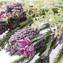 Deko-Feldblume Lavendeloptik lila im 2er Set
