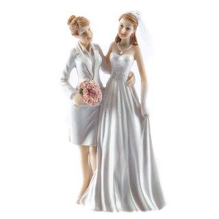Hochzeits-Figur Braut & Braut / Mrs & Mrs