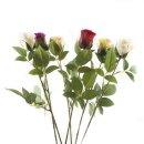 Kunst-Blume Rose weiß