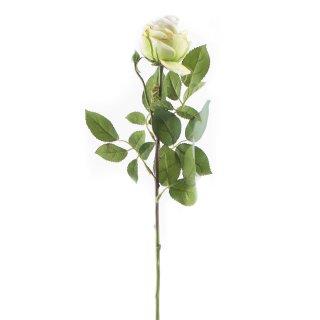 Kunst-Blume Rose mit großen Blütenkopf weiß