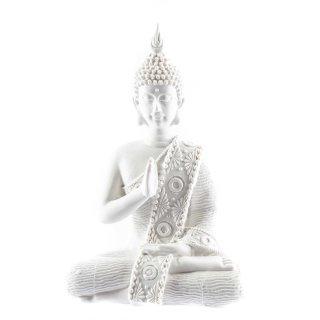 Weißer Buddha aus Polystone