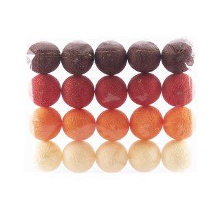 Deko-Garn-Ball 20 Stück rot/beige Töne