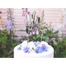 """Cake Topper """"Mr & Mrs"""" silber Tortenschrift"""