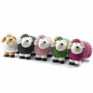 Süßes Keramik-Schaf für drinnen und draußen groß