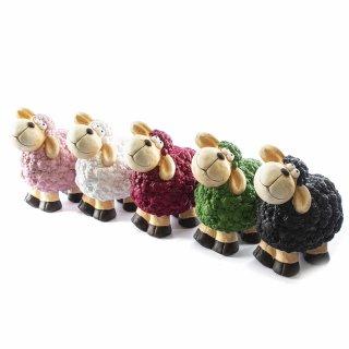 Süßes Keramik-Schaf für drinnen und draußen mittel