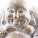 Goldener Buddha mittelgroß mit weißen Akzenten