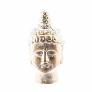 Buddha-Kopf aus Keramik Gold