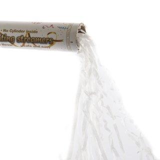 Weiße Luftschlangen Kanone Popper für Partys, Geburtstage, Hochzeit