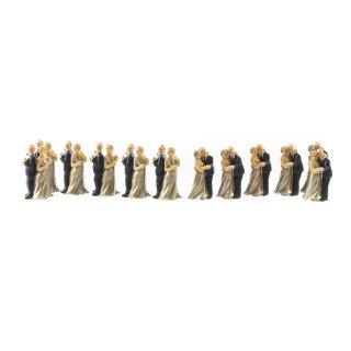 Kleine Figuren zur Gold-Hochzeit 12 Stück