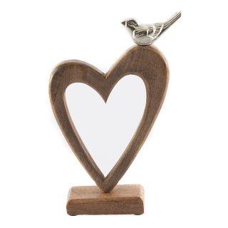 """Holz Aufsteller mit Taube und Herz """"Love Bird"""""""