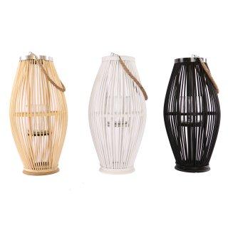 Bambuslaternen in 3 Farben