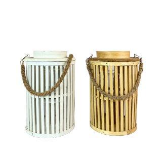 Bambus Laterne in zwei verschiedenen Farben 30cm