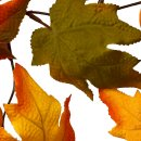 Herbstliche Deko Girlande mit Laub und Kürbissen