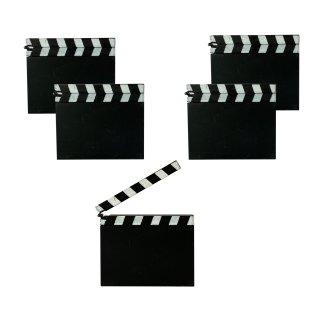 Mini Filmklappen im 5er Set / Tischkarten