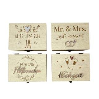 Geschenkbox mit Spieluhr verschiedene Motive Holz