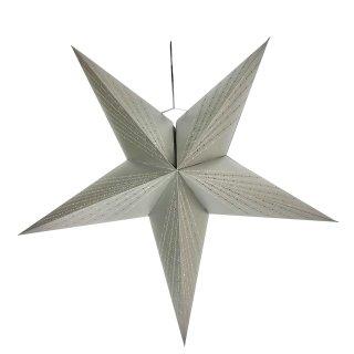 Weihnachtlicher Papier-Stern 5-Zacken Ø60cm silber