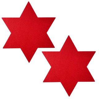 Filzsterne im 2er Set rot ca 36 cm