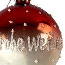 """Glas Christbaumkugeln im 6er """"Frohe Weihnachten"""""""