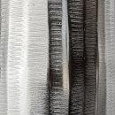 Metall-Vase silber strukturiert 40 cm