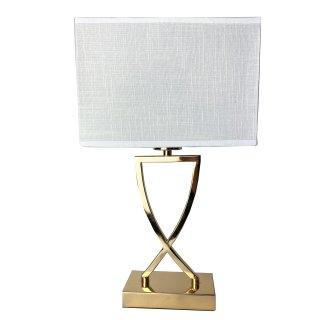 Exklusive Tischlampe weiss gold