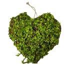 Deko Moos Herz grün