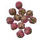 Blumenbälle 12er Set pink rosa