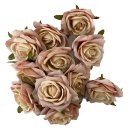 Deko Rosenköpfe 12er Set rosa
