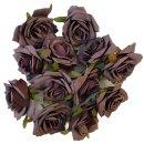 Deko Rosenköpfe 12er Set lila